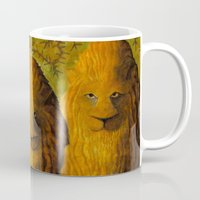 lions Mugs featuring lions by giol's by gianalberto oliva