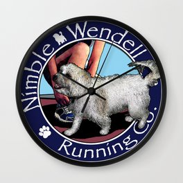 Nimble Wendell Running Co. (Painterly Logo) Wall Clock