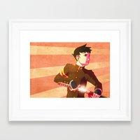 lawyer Framed Art Prints featuring Swordsman Lawyer by Zulaya