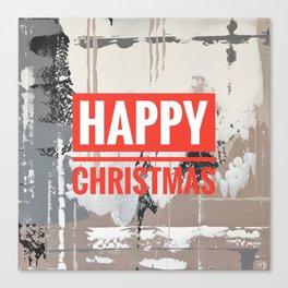 Snowfall - Happy Christmas Canvas Print