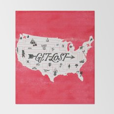 Get Lost Throw Blanket