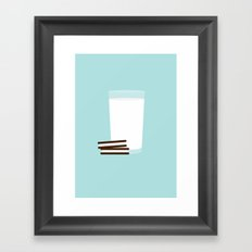 #25 Milk and Cookies Framed Art Print