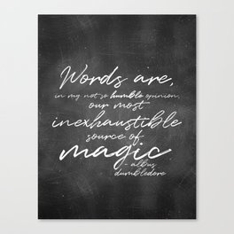 Words Are Magic (Dark) Canvas Print