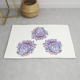 traditional paisley in modern style Rug