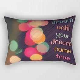 Vintage Colorful Christmas Bokeh Rectangular Pillow
