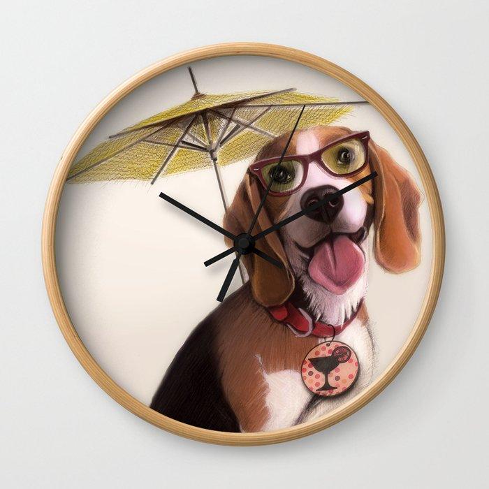 Tessi the party Beagle Wall Clock
