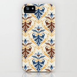 Blue and Brown Pattern iPhone Case