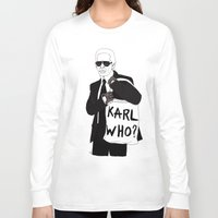 karl Long Sleeve T-shirts featuring Karl by Les Gutiérrez