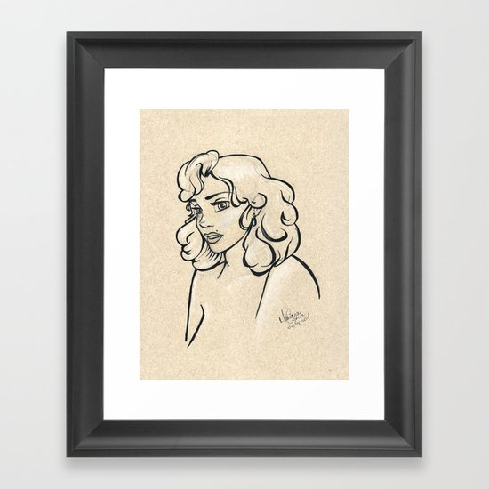 Beauty Mark Framed Art Print