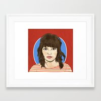 chvrches Framed Art Prints featuring Lauren Mayberry by Marcelo Romero