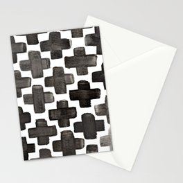 Black & White Crosses - Katrina Niswander Stationery Cards