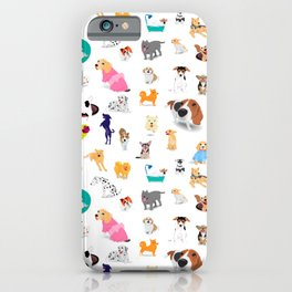 Pattern of dogs, adorable and friendly animal. iPhone Case
