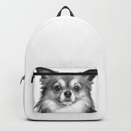 Black and White Chihuahua Backpack