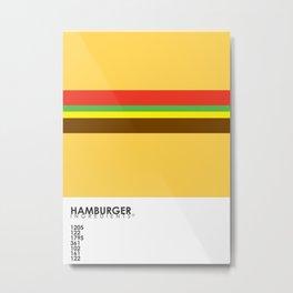 Pantone Food - Hamburger Metal Print
