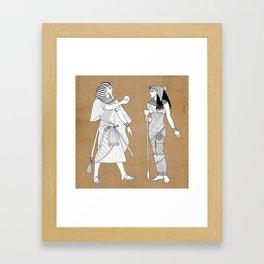 King tut Framed Art Print