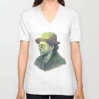 sherlock holmes V-neck T-shirts featuring sherlock holmes by Doruktan Turan