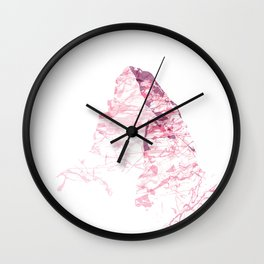MATTERHORN MOUNTAINSPLASH pink Wall Clock