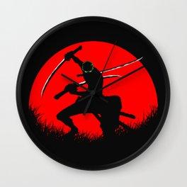 tree sword warrior Wall Clock