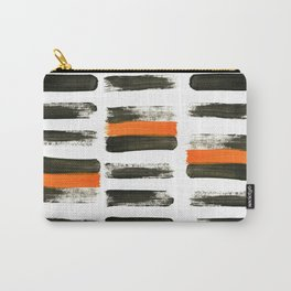 orange stripes Carry-All Pouch