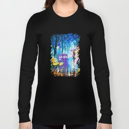Little Tardis With The Girl Long Sleeve T-shirt