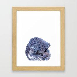 koala holding little koala Framed Art Print