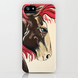 Cinnamon Horse by Noelles's Art Loft iPhone Case