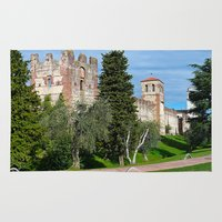 medieval Area & Throw Rugs featuring Medieval Fortress by Art-Motiva