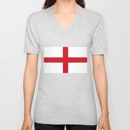 Flag of England (St. George's Cross) - Authentic version to scale and color Unisex V-Neck