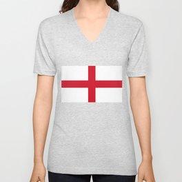 Flag of England - St. George's Cross Unisex V-Neck