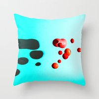 fruits Throw Pillows featuring Fruits by Baloo