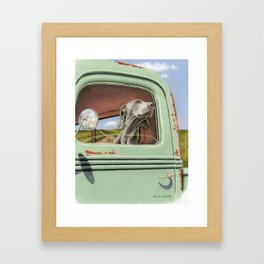 Goin' For A Ride Framed Art Print