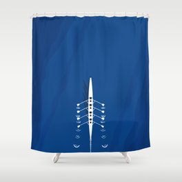 Aerial Rowing Boat | Teamwork Shower Curtain