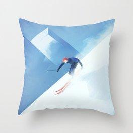 Ski France Throw Pillow