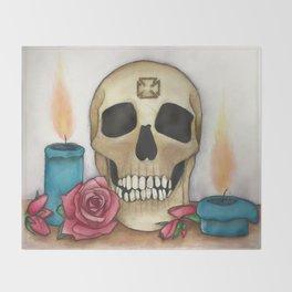 Strengh in Death Throw Blanket