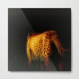 Cheetah Fractal Animal Fractal cheetah Metal Print