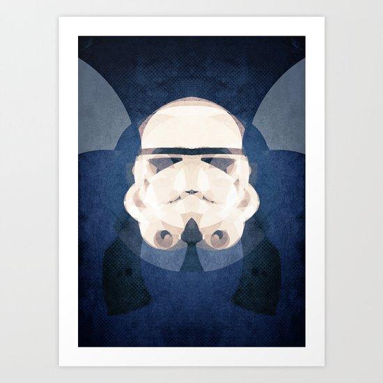 stormtrooper head Art Print