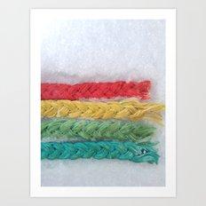 Tinted tofu strings Art Print