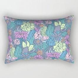 Flowering Succulents Rectangular Pillow