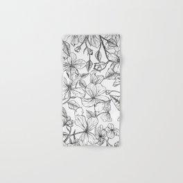 Balkan Honesty flower drawing / Lunaria annua flower  Hand & Bath Towel
