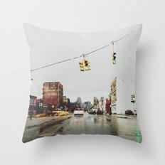 Gratiot Ave - Detroit, MI Throw Pillow