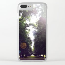 The Tree-Lined Path Clear iPhone Case