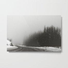 Foggy Yukon Metal Print