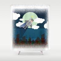 bat man Shower Curtains featuring Bat Man by voskovski