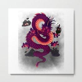 Halloween Chinese Dragon Metal Print
