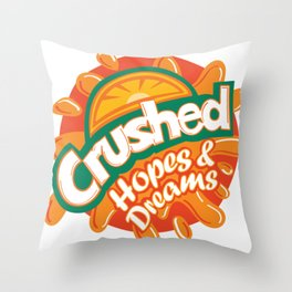 Crushed Hopes and Dreams Throw Pillow
