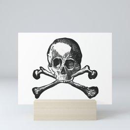Skull and bones 2 Mini Art Print