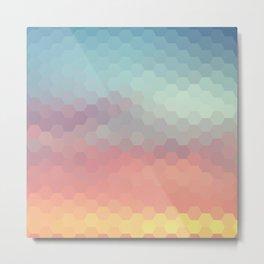 Geometric abstract pattern Metal Print
