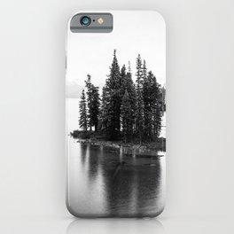 Maligne Lake   Black and White   Landscape Photography   Travel Alberta   Nature iPhone Case