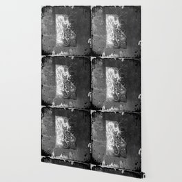 Blossom wolf: BW Wallpaper