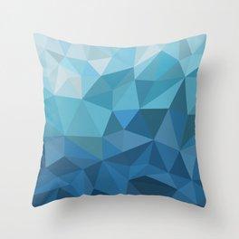 blue geometric Throw Pillow